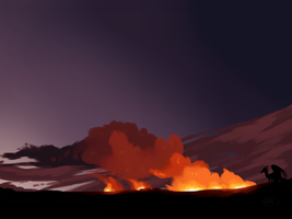 wildfire practice by desertnettle