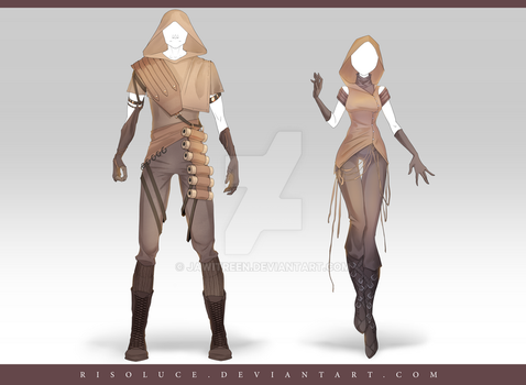 (CLOSED) Adoptable Outfit Auction 187 - 188 by JawitReen