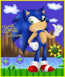 Sonic's 26th Anniversary by EternalSonicFreak