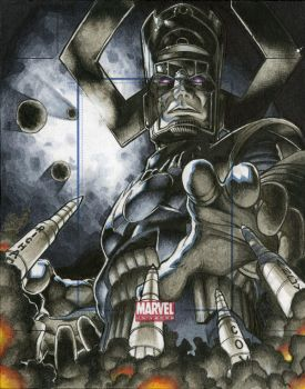 Galactus Marvel Universe Artists Proof by RichardCox