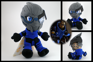 Mass Effect - Garrus plushie by eitanya