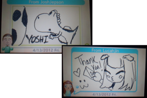 Josh's and Lucah's drawing on Swapnote :3 by Anime-Gamer-Girl