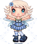 Forget me not - Pixel fairy contest entry by Heartsdesire-fantasy