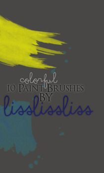 10 Colourful Paint Brushes by LissLissLiss