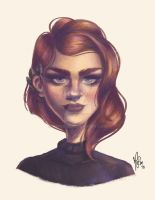 Redhead - Digital Painting by mafer-be