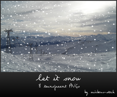 let it snow - transparent png by rainbows-stock