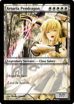 Arturia Pendragon in MtG by Eruner