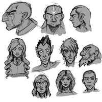Face Sketches by Dmeville