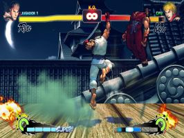 SFII Champion Edition Ryu Stage Pack MOD to USF4 by somebody2978