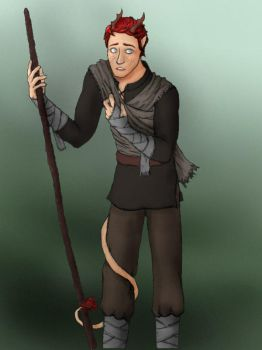 Jason Philos: OC Tiefling from DnD by Myn-Anthony