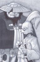 2k13 Commission usagi Yojimbo and Brewmaster by ZipDraw