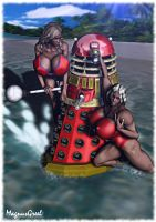 Dalek Beach Time Fun by Stone3D