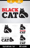 Black Cat - Logo Template by doghead