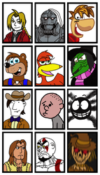 Random Character Icons. by Luke-the-F0x