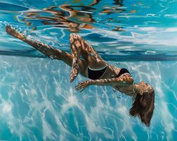 Tumbling Through The Light 38x48 Print by ericzener2013