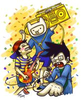 Three Man Band of Awesomeness by Mystical-Kaba