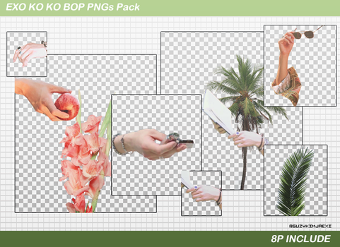 [SHARE PNGs] The War #Ko Ko Bop Pngs Pack @EXO by SuzyKimJaeXi