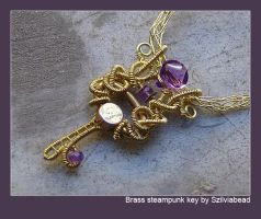 Steampunk key necklace by bodaszilvia