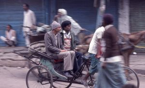 Rickshaw in a hurry by coshipi