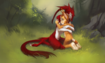 Lynx and Sergal by Orphen-Sirius