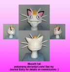 Meowth hat by PokeMama
