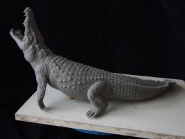 Nile Crocodile sculpt-alternate view by revenant-99