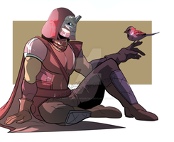 Cayde-6 and sparrow by squarerootofdestiny
