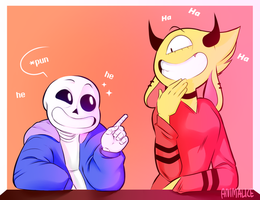 Arttrade - with Skele-Bros by Animalice