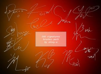 Brushes - EXO signatures by shiny-a