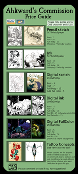 Normal Commission Guide - OPEN by Ahkward
