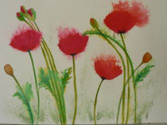 Field of Poppies by let-hope-float-up