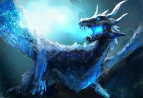 Ice Dragon by conorburkeart