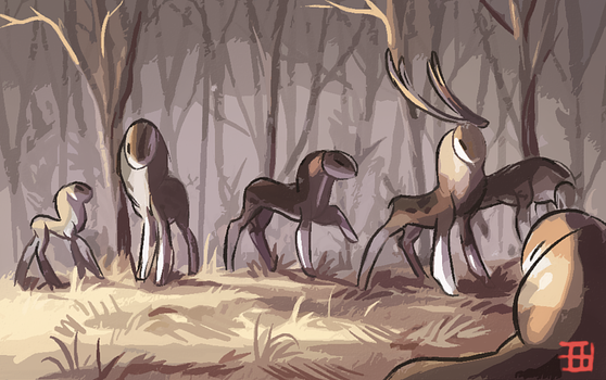 Herd of Relicelks by griffsnuff
