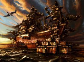 Shipwreck Shanty Town by MikeOz