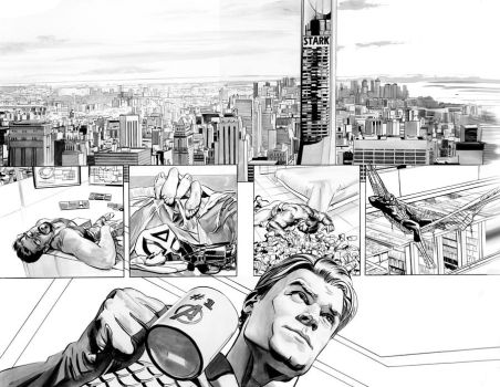 AVENGERS 31 Pages 8 and 9 by mikemayhew