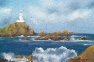 Lighthouse in the sea by IrysArt