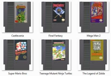 NES cartridge icons by theSubsidal