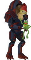 Kermit and Krogan by Andrew-Graphics