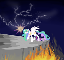 Stand Behind Me! by RunningNorth