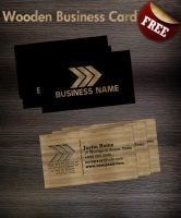 Wooden business card Template by Hotpindesigns