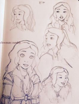 Snow White Sketches by hip2b2