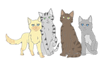 Warrior Cats Leaders by eftel-inge