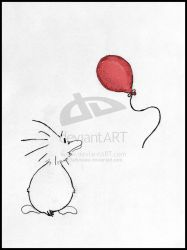 Zo's Red Balloon - Colored by ZoDuck