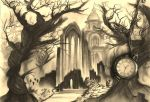 grim landscape (cemetery) by ToiFactory