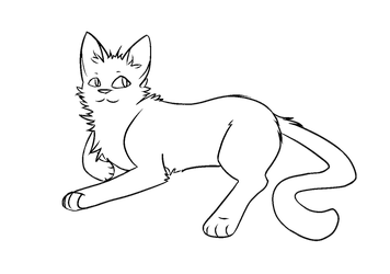 F2U Thunderclan Apprentice Warrior Cat Lineart by popfiish
