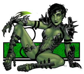 Commission: Goblin Queen by BleedingHeartworks