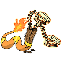 Fakemon #6: Ssscorched by Draggaco