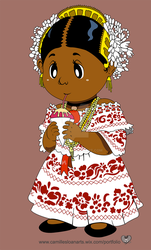 Pollera (Vector Drawing) by Camb0t