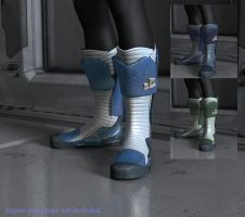 SciFi Boots for G2M Freebie by CyprithTheCat
