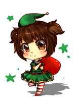 Christmas Elf on Duty! [ 5$ Chibi Sample ] by StarBunniie